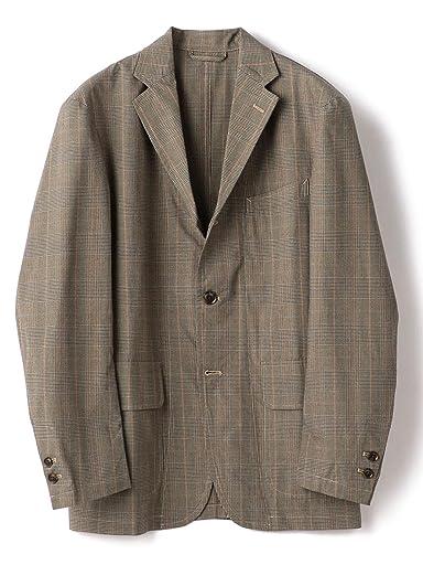 Glen Plaid Cotton Sportcoat 117-07-0039: Charcoal