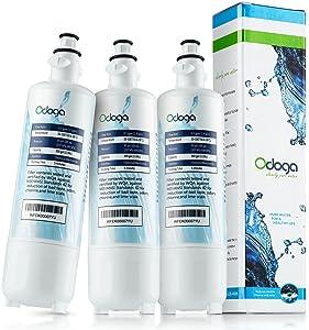 Odoga LT700P Refrigerator Water Filter Compatible with LG LT700P, ADQ36006101, LFX31925ST, ADQ36006102, LFX31945ST, LFX25991ST, Kenmore 46-9690 (3-Pack)