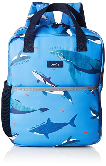 Joules Boys Adventure Rubber Backpack BLUE SHARK