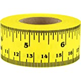 """12 Inch Ruler Tape - Clean-Remove Adhesive, 1"""" Wide (41 Rulers on a Roll of Tape) 