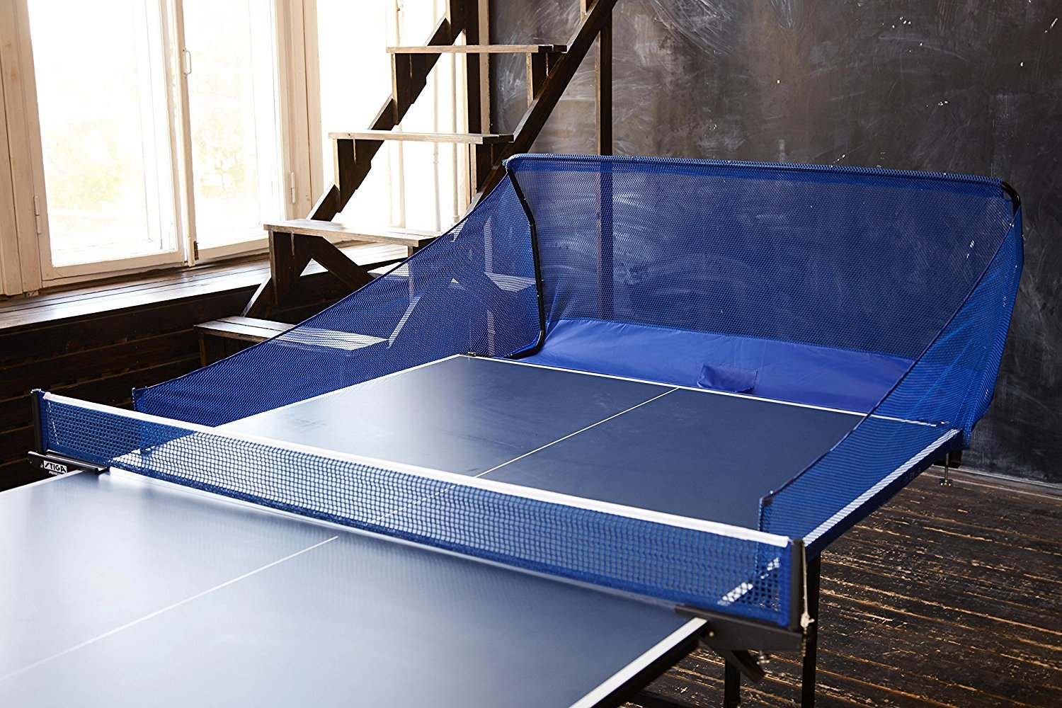 Kenley Powerfly Ping Pong Table Tennis Catcher Net - Portable Ball Catch Netting - Serve and One Player Training Practice Set - Compatible with Robot Trainer Equipment