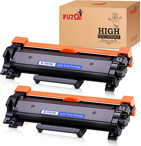 2PK TN760 Toner for Brother TN730 MFC-L2710DW L2750DW HL-L2350DW L2370DW L2390DW