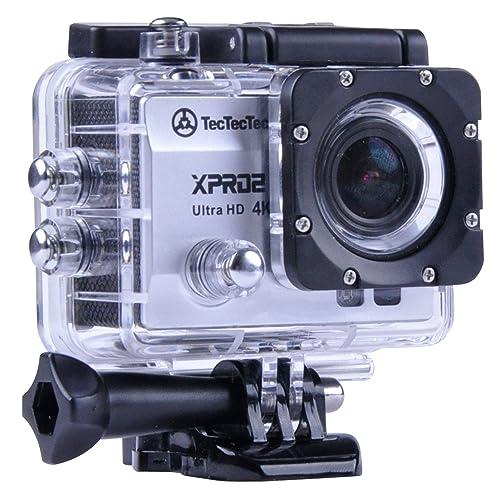 [Nouveau] TecTecTec XPRO2 Caméra Sport 4K Ultra HD Wifi - Camera étanche 16 Mp - Argent