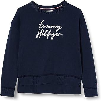 Tommy Hilfiger Girls Essential Tommy Script Sweater Sweatshirt