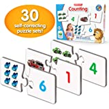 The Learning Journey: Match It! - Counting - 30 Piece Self-Correcting Number & Learn to Count Puzzle - Preschool Learning Toy