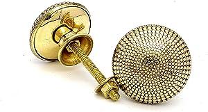 5MoonSun5's Brass Door Knobs/Drawer Pulls Dresser Door Knobs/Pull and Push Handle Knobs for Cabinets, Wardrobes & Kitchen Cupboards/Handmade Classic Hardware Decor, 38 mm (Set of 2)