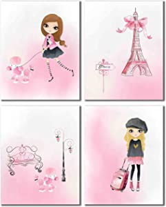 Pink Paris (8x10 - Set of Four)