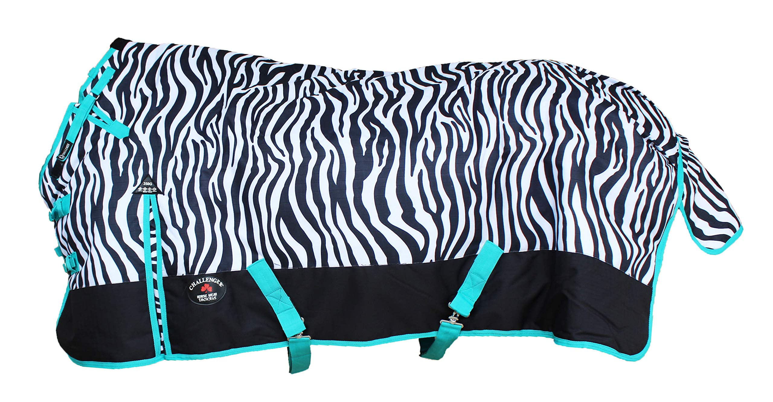 CHALLENGER 76'' 1200D Turnout Waterproof Horse Tough Winter Blanket Heavy Teal 547G by CHALLENGER