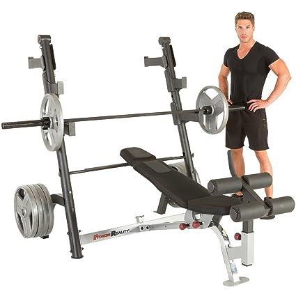 Banco de pesas Fitness Realidad X-Class - 2863, Sin accesorio de polea curvo