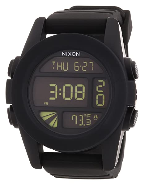 Nixon A197000-00 - Reloj digital de cuarzo para hombre con correa de plástico, color negro: Nixon: Amazon.es: Relojes