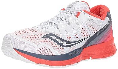 cbfc5b0bca6b6 Saucony Women s Zealot ISO 3 Running Shoe White red 5 Medium US
