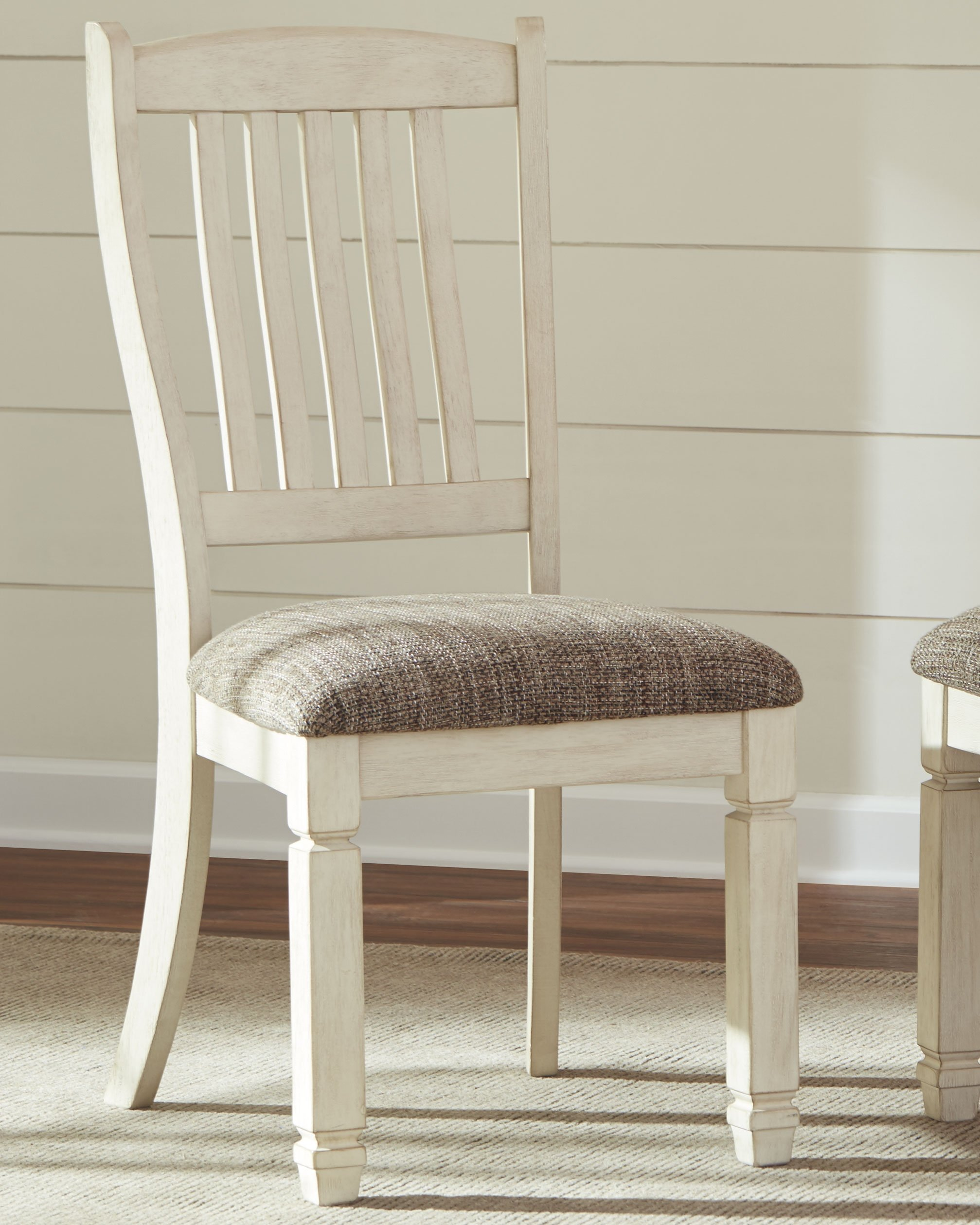Ashley Furniture Signature Design - Bolanburg Dining Room Chair - Antique White by Signature Design by Ashley (Image #2)