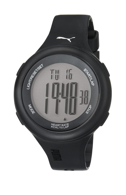 PUMA PU910961001 - Reloj digital de cuarzo unisex con correa de plástico, color negro: Amazon.es: Relojes