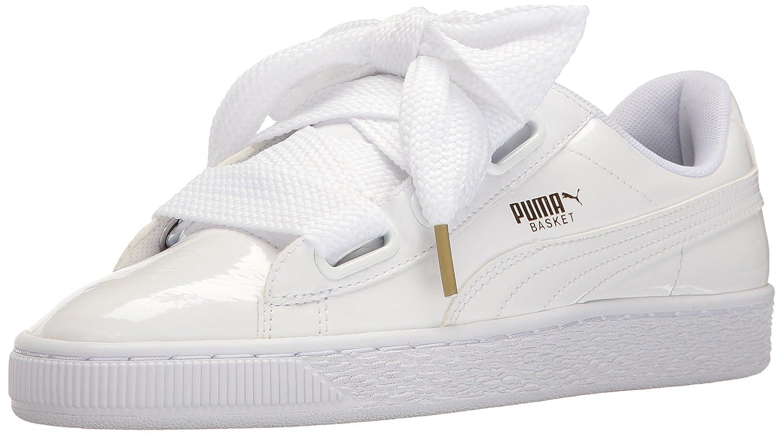 PUMA Women's Basket Heart Patent WN's Fashion Sneaker B01J5NS2Z2 9 B(M) US|Puma White-puma White
