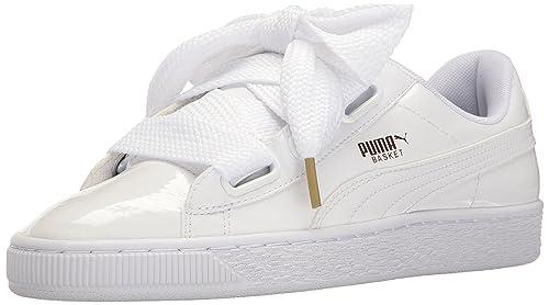 c1b716e2fa PUMA Women s Basket Heart Patent Sneakers Black  PUMA  Amazon.ca ...