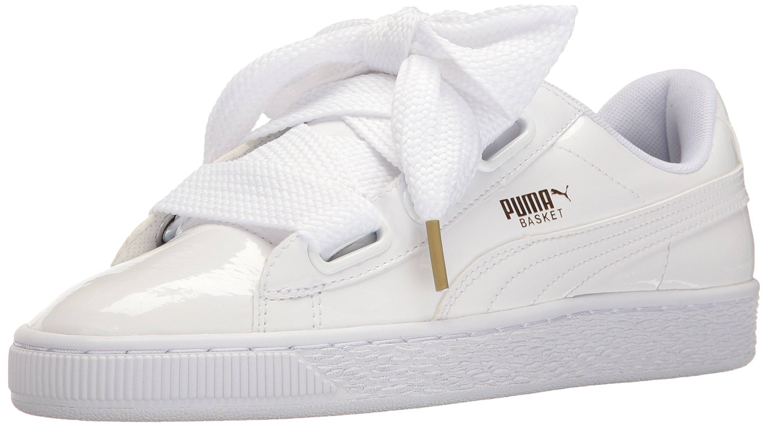 pretty nice 41546 d1302 PUMA Women's Basket Heart Patent WN's Sneaker White, 9.5 M US