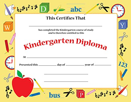 amazon com kindergarten certificate office products