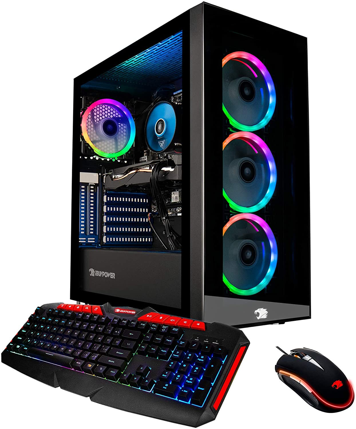 iBUYPOWER Pro Gaming PC Computer Desktop Element MR9270 (Intel Core i7-9700F 3.0GHz, NVIDIA GeForce RTX 2060 6GB, 16GB DDR4-2666 RAM, 1TB HDD, 240GB SSD, WiFi Included, Windows 10, VR Ready) Black