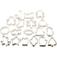 Wilton Holiday 18 pc Metal Cookie Cutter Set, 2308-1132
