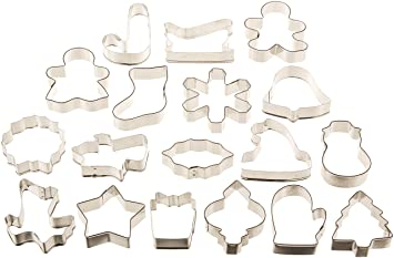 Amazon.com: Wilton Holiday 18 pc Metal Cookie Cutter Set, 2308 ...