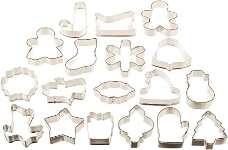 Cookie Cutter Christmas.Wilton Holiday 18 Pc Metal Cookie Cutter Set 2308 1132