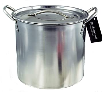 Buckingham Stock Pot, Olla de Acero Inoxidable, 21 cm, 6 L, Plateado