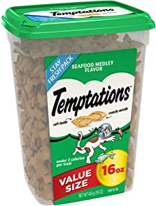 Temptations Classic Cat Treats Seafood Medley Flavor, 16 Oz. Tub