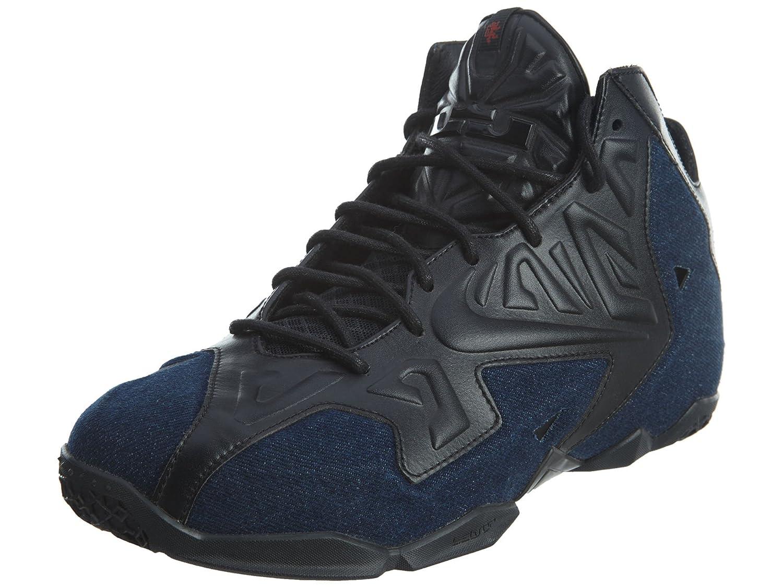 Black Black-denim Men's Nike Lebron 11 EXT Denim QS  Denim  Basketball shoes - 659509 004