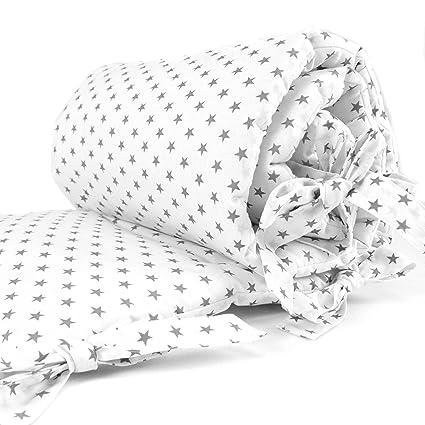 Sugarapple Baby Nestchen Bettumrandung dick gepolstert für Beistellbetten, Kopfschutz und Kantenschutz für babybeistellbetten