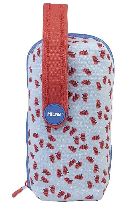MILAN Kit 4 Estuches con Contenido Net&Lit Azul Estuches, 22 cm, Azul