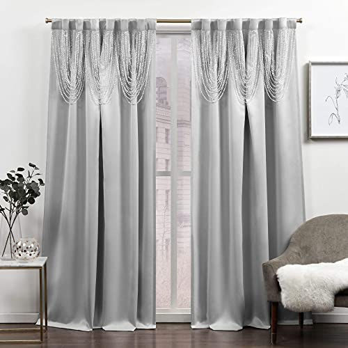 Exclusive Home Curtains Bliss Room Darkening Blackout Hidden Tab Top Curtain Panel