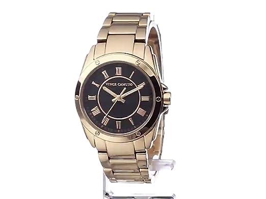 Amazon.com: Vince Camuto Womens VC/5230BKRG Black Dial Rose Gold-Tone Bracelet Watch: Watches