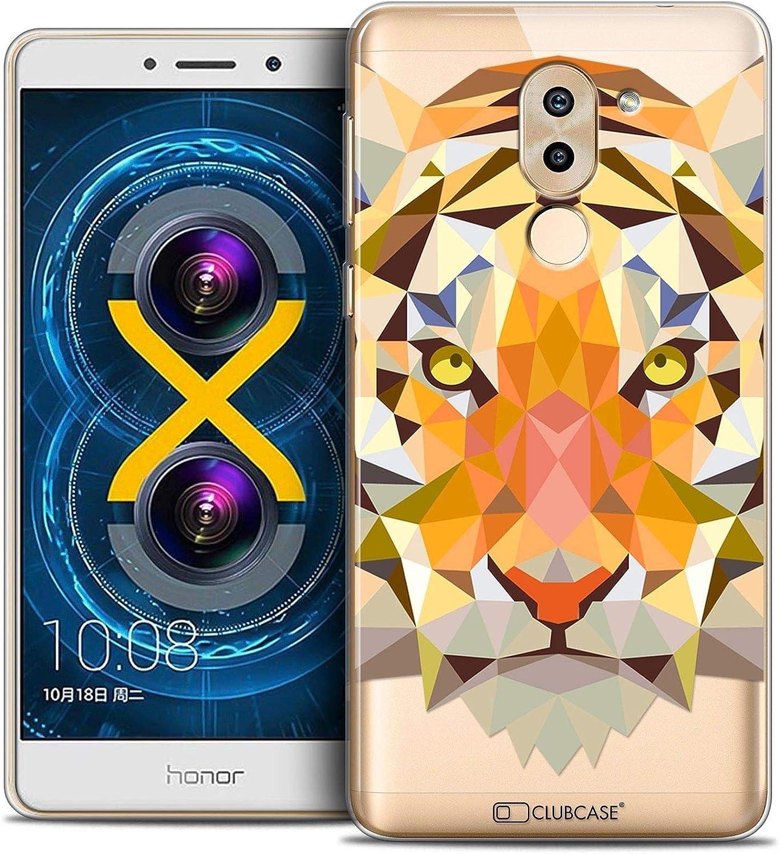 Caseink Coque Housse Etui Pour Huawei Honor 6x Crystal Gel Hd Polygon Series Animal Souple Ultra Fin Imprimé En France Tigre