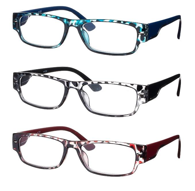 Lote de 3 Gafas de Lectura / Anteojos Forma Rectangular Montura en ...