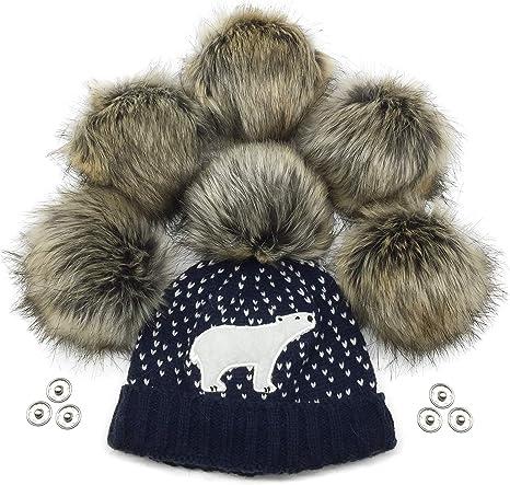 Sw Crafts DIY Faux Fur Pompom Ball for Hat Clothes Shoes Decor Accessories