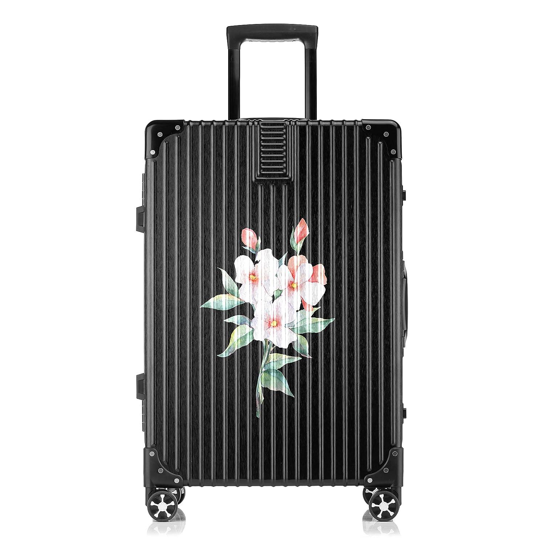 GSHCJ スーツケース 咲く花束 キャリーケース 20インチ おしゃれ ブラック Tsaロック搭載 プリント ハード 超軽量 軽い 機内持込 ロックファスナー 旅行 ビジネス 出張 海外 修学旅行 丈夫 便利 レディース メンズ 学生 B07RX7K4P4