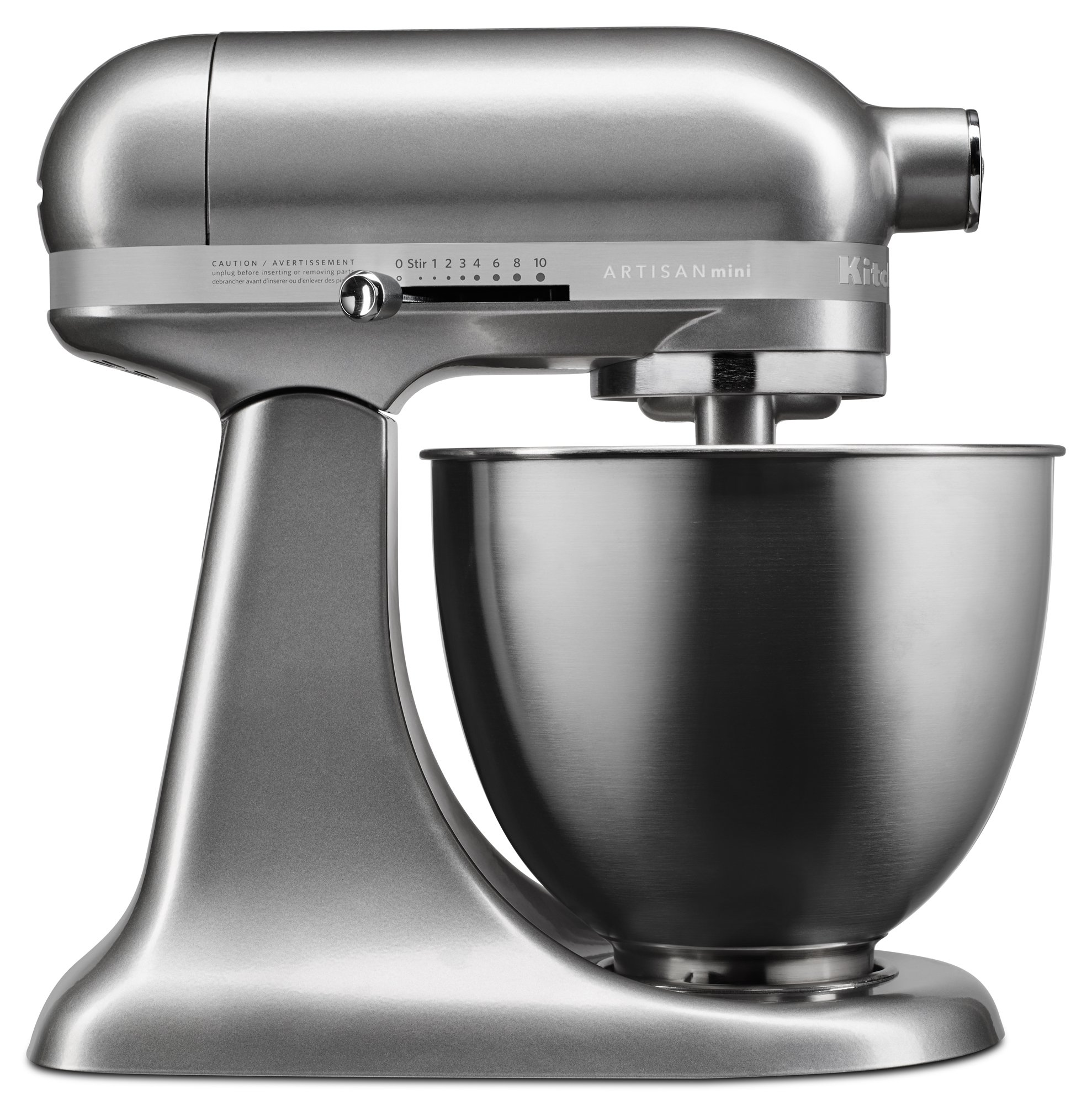 KitchenAid KSM3311XCU Artisan Mini Series Tilt-Head Stand Mixer, 3.5 quart, Contour Silver by KitchenAid