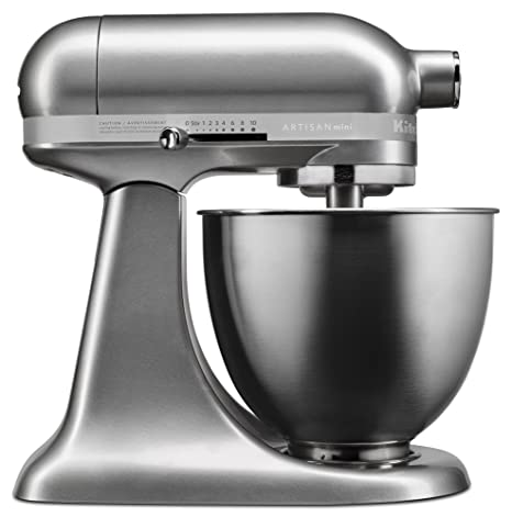 Pleasing Kitchenaid Ksm3311Xcu Artisan Mini Series Tilt Head Stand Mixer 3 5 Quart Contour Silver Home Interior And Landscaping Ologienasavecom