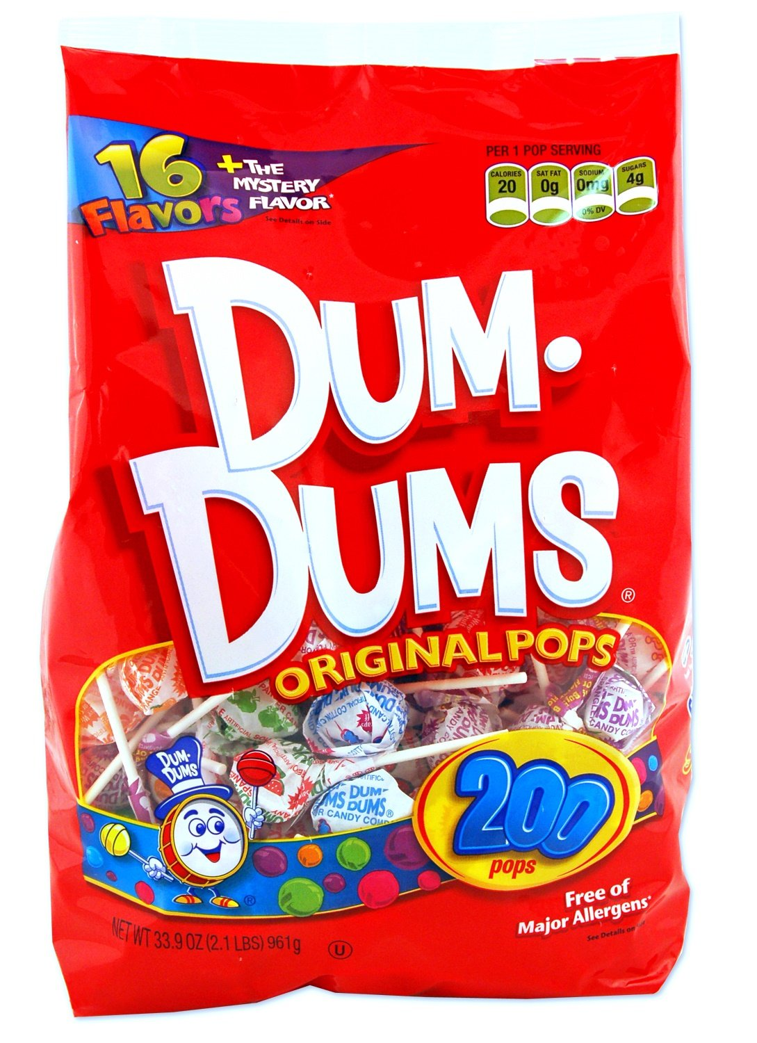 DUM DUMS Lollipops, Variety Flavor Mix, 200 Count Bag by Dum Dums
