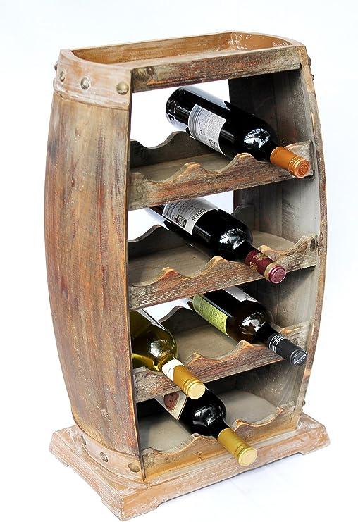 Flaschenhalter Flaschenregal 6 Flaschen Holzregal Weinregal Flaschenständer