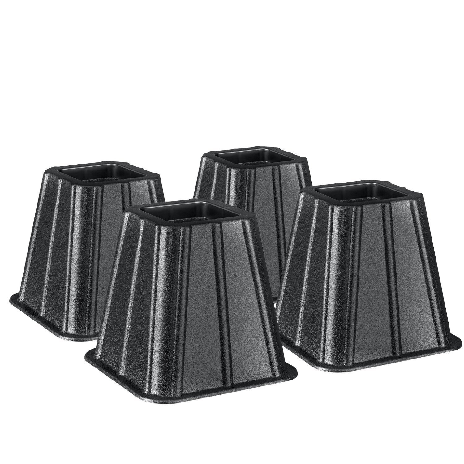 Set of 4 Bed Risers Raise Furniture Create Underbed Storage