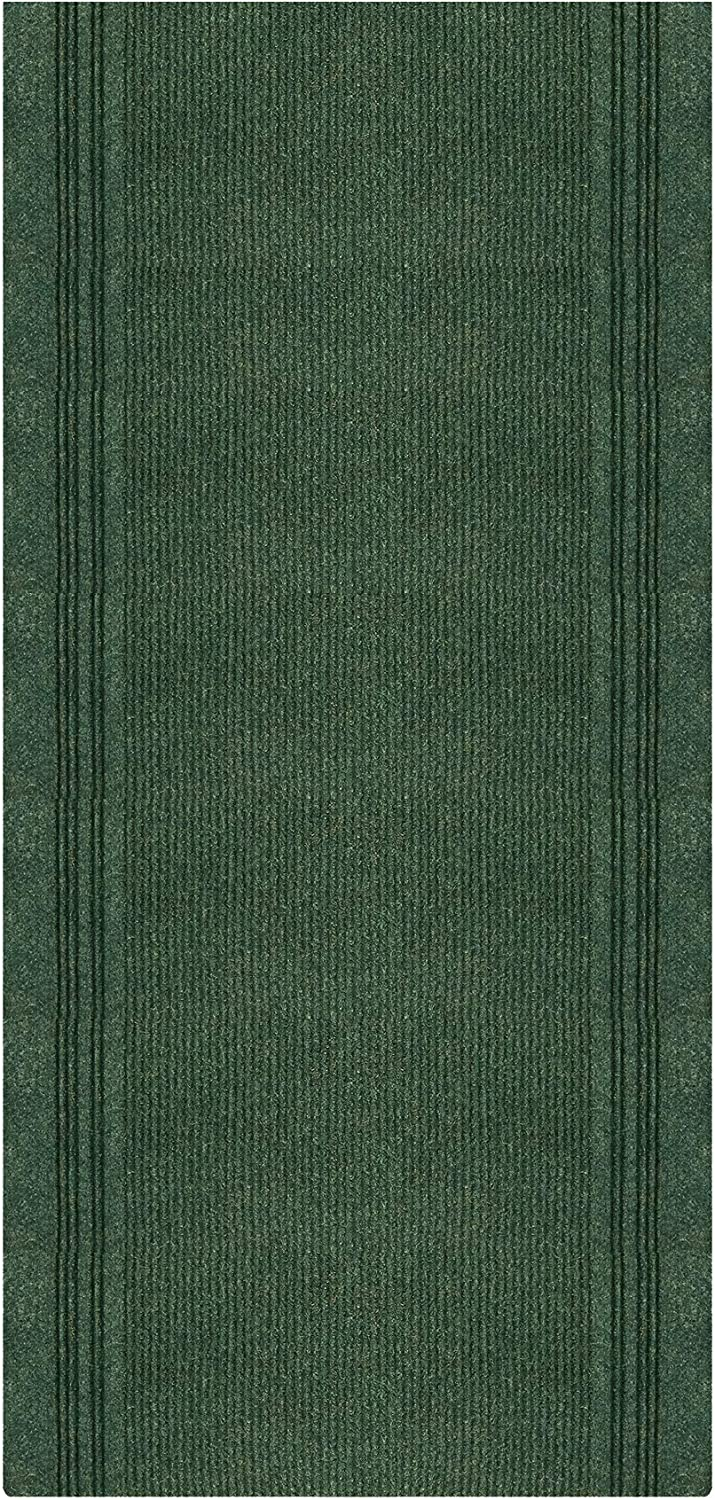 iCustomRug Tracker Indoor//Outdoor Utility Carpet Runner with Ribbed Border 26 x 6 in Brown