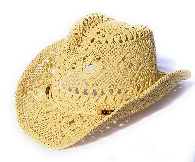 149cba0ef4 Amazon.com  Dress Up Straw Cowgirl Hats for Girls