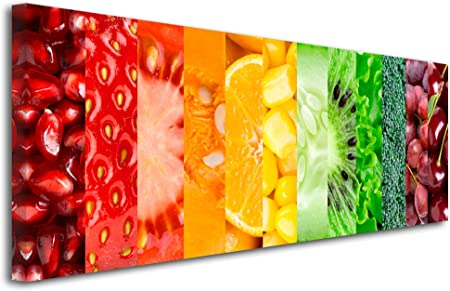 Declina Tableau Decoratif Imprime Fruits Et Legumes Impression