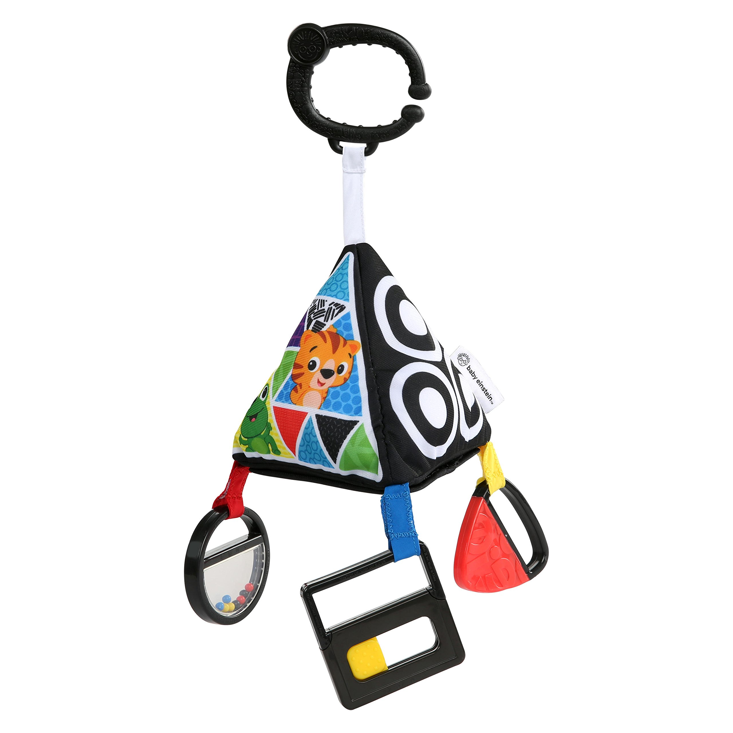 Baby Einstein Playful Pyramid High Contrast Take-Along Toy, Newborns and Up