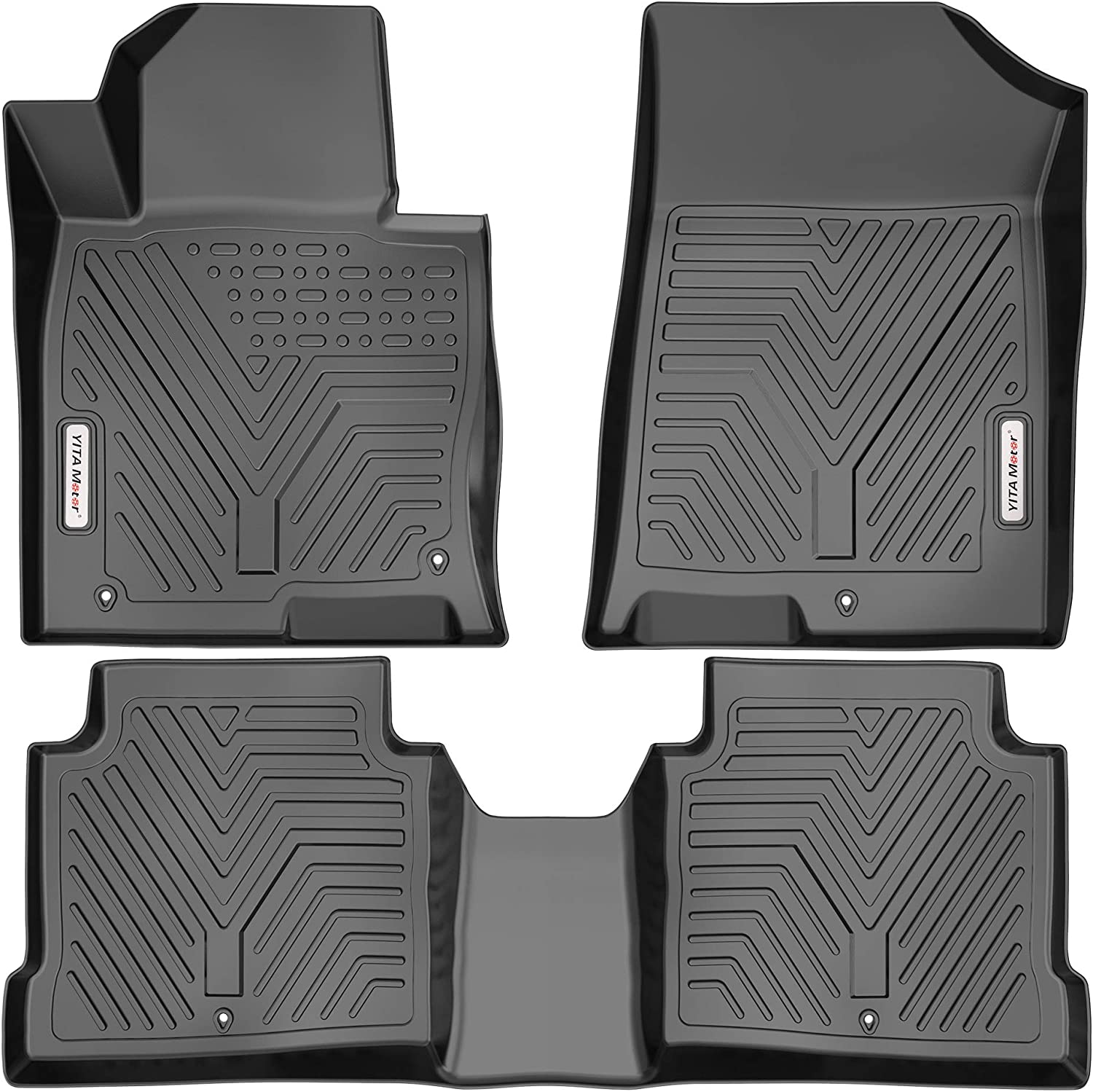 All Weather Heavy Duty Floor Mat Set Autotech Park Custom Fit Car Floor Mat Compatible with 2019-2020 Kia Compatible withte Sedan and Koup and Hatchback