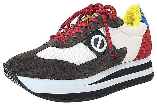 Deportivas No Name Flex Jogger roja Mujer: Amazon.es: Zapatos y complementos