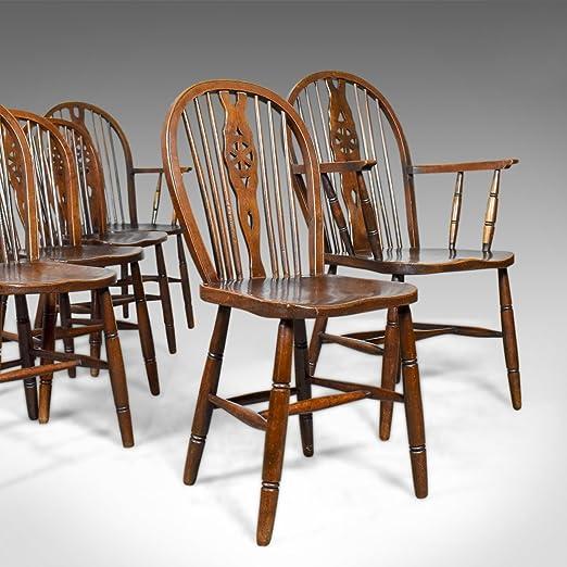 London Fine Antiques Set de Seis, Envejecido, sillas de ...