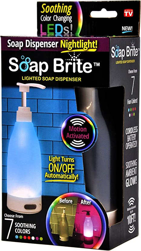 Soap Brite Soap Mc6 Led Lighted Dispenser 12 8 Ounces 7 Soothing Color Options Multi Home Kitchen