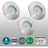 Spots led encastrables et ultra-plats I lot de 3 I lampe salle de bain I plafonnier moderne I éclairage intérieur I luminaire I 230 V I IP44 I 3 x 5 W